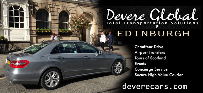 Devere Global Edinburgh Chauffer Drive Airport Transfers Tours Events Concierge Service Secure High Value Courier